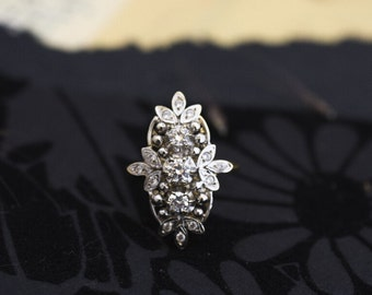 14K Gold Ring with Zircons