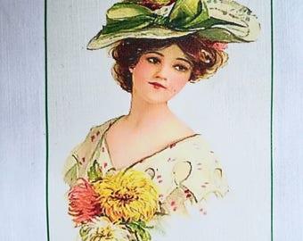 Transfer 0027. elegant Lady with Hat