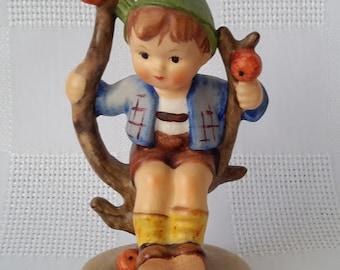 Hummel Apple Tree Boy Figurine, Tmk 3, Goebel, W. Germany, c.1960