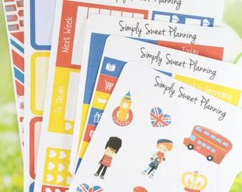 London Planner Sticker Kit - Happy Planner - Erin Condren - Plum Planner - Functional Stickers - Matte - Weekly Stickers - Sticker Kit