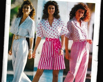 Butterick 4109 Misses' Top, Pants, Shorts, and Sash Family Circle Collection Fast & Easy