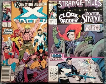 Marvel Comic Lot Featuring X Factor #62 and Strange Tales #14 Doctor Strange