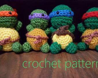 Crochet ninja turtle amigurumi : Crochet ninja turtle etsy