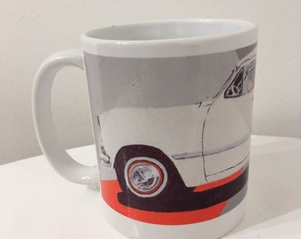 Mint White Car Mug