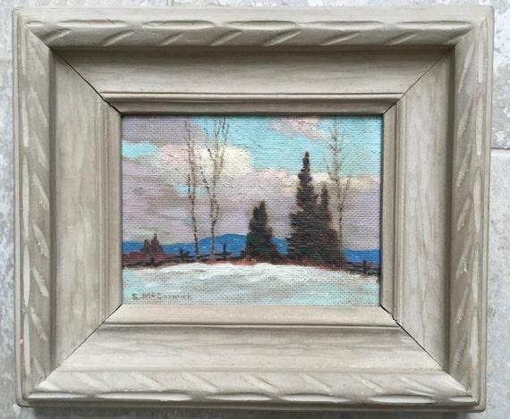 Joseph Roderick Stuart McCormick (1905-1992) Canadian artist oil painting assoc group of seven