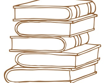 Stack of Books Cut File .SVG .DXF .PNG
