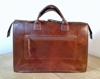 Men's Leather Briefcase. Leather Messenger Bag, Leather Laptop Bag, Messenger Backpack, Men's Leather Bag,  Leather Large Cross Body Bag.