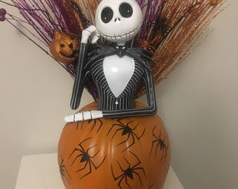 Jack Skellington Centerpiece Pumpkin READY TO SHIP Nightmare Before Christmas Nbc
