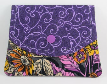 Small Womens Wallet, Fabric Womens Wallet, Credit Card Holder, Gift for Her Under 20
