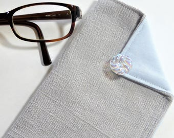 Glasses Case, Eyeglass Case, Reading Glasses Case, Sunglass Case, Gift for Her, Gift for Mom, Soft Fabric Case, Vintage Coco Channel Style