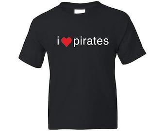 Kids Pirate Shirt - I Heart Pirates