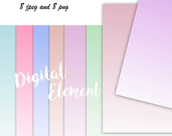 Commercial Use: Scrapbook Digital Paper, Digital Ombre Pink Paper, Lilac Digital Ombre Paper, Aqua and Teal in soft Pastels. No. RS1