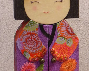 Instructions to make one in the shape of kokeshi in cardboard jewelry box