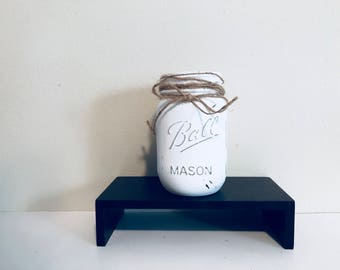 Mason jar home decor! Bathroom mason jars decor!  Wedding decor, fall flowers decor, seasonal decor! Jars decor!