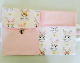 Pink bunnies artist bag