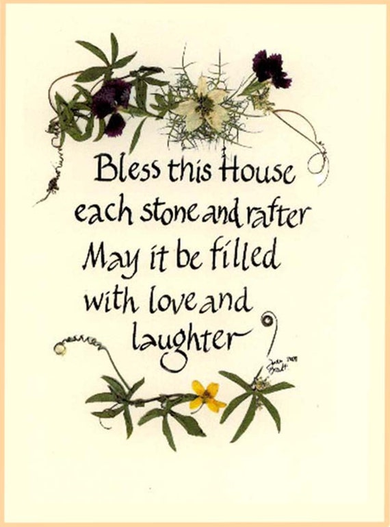 Irish Calligraphy Card With Home Blessing St Patrick S