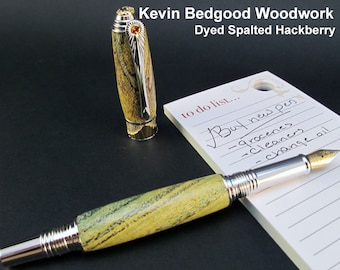Pen Custom Fountain, Fine Writing Instrument, wood pen