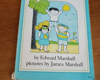 Three By The Sea by Edward Marshall, pictures by James Marshall p. 1981 vintage children's book