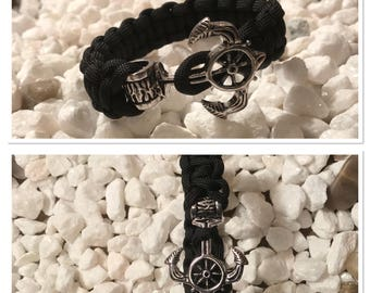 Nautical Anchor Bracelet Custom Made in USA with FREE SHIPPING