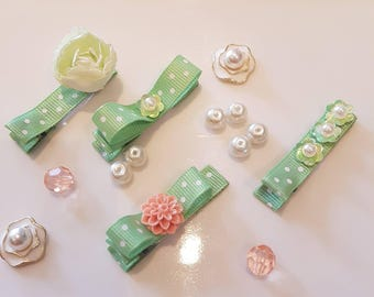 Kids Hair Clips, Baby Hair Clips, Hair Clips For Girls,  Toddler Girl, Infant Hair Clips  - Spring Collection - Hair accessories, Flowers