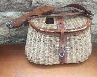 Vintage Fishing Wicker Creel****SALE****
