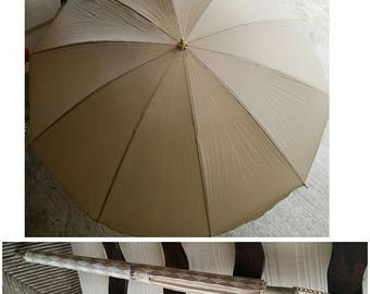 Vintage 80s Travel umbrella with Case by Neiman Marcus