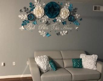 Paper Flower Wall Decor, Home Decor, Paper Flowers Backdrop, Paper Flowers  Photobackdrop,