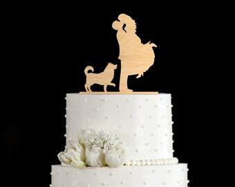 Husky wedding topper,husky wedding cake topper,husky cake topper,husky cake toppers,Husky topper cake,husky bride groom cake topper,7538