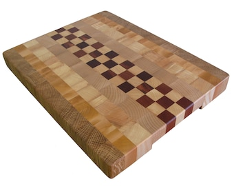 Wooden, Handmade, Cutting Board End Grain, with Feet, Butcher Block, Chopping Board, Chopping Block, Perfect Gift, Kitchen