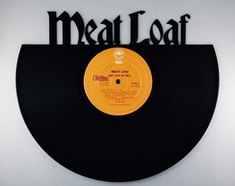 Recycled Vinyl Record MEAT LOAF Wall Art