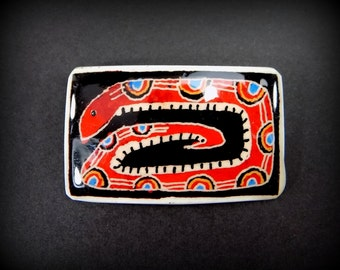 Western Jewelry - RED SNAKES - Cowgirl Jewelry - hat pin - lapel pin