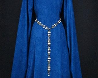 Baronne Marguerite Girdle Belt,pearl & antique brass,Renaissance girdle belt,Medieval girdle belt,pearl link belt,cosplay belt(1384ab_)