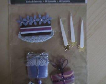 Scrapbooking embellishments stickers - Theme birthday gift