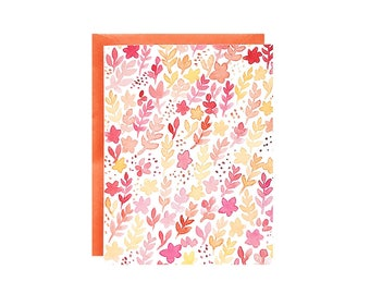 Everyday Floral Greeting Card with Envelope