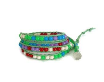 Wrap Boho bracelet  Wrap Chan Luu bracelet Strackable bracelet Chan Luu Style Wrap Bracelet Bijouterie  Bracelet for women Gift For Her
