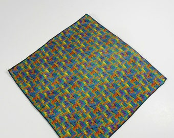 Vintage Men's Pocket Square, abstract print, Vintage Men's handkerchief