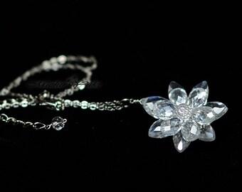 Sailor Moon Silver Illusion Crystal Necklace -
