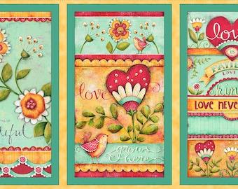Love Grows Here-Panel-Karla Dornacher-QT Fabrics