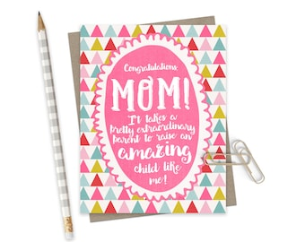 Funny Mothers Day Card  / Mothers Day Greeting Card / Card for Mom / Mom Card / Funny Birthday Mom Card