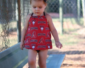 Sports Team MLB NFL Halter Top Girls Top 3,6,9,12 months, 2T, 3T, 4T 5T
