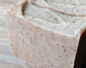 Red Clover + Pink Clay Soap | Nourishing Herbal Tallow Soap | Unscented Grass Fed Tallow Soap | Clay Soap | Oatmeal Soap | Herb Soap | Farm