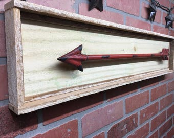 Arrow, Rustic Arrow, Rustic Arrow Decor, Red Arrow, Rustic Arrow Wall Art, Rustic Wall Decor, Farmhouse Style, Barn Decor, Gift For Her