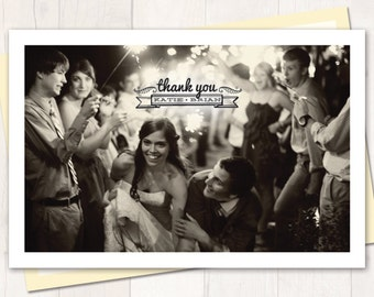 Wedding Thank You Postcard or Magnet - Small Banner