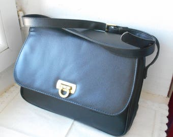 vintage French Pierre Balmain black coloured handbag