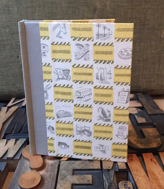 Journal - Small Blank, Yellow British Themed