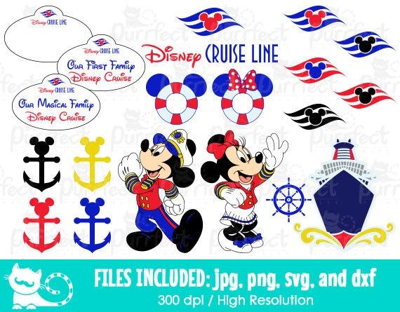 mickey and minnie disney cruise bundle svg disney cruise line rh etsy com disney magic cruise clipart disney cruise clipart