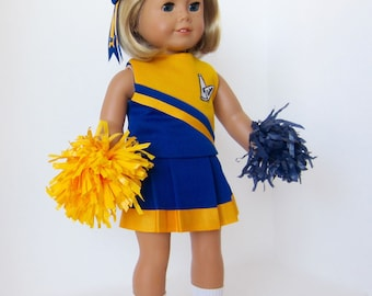 American Girl Doll: Blue and Gold Cheerleader