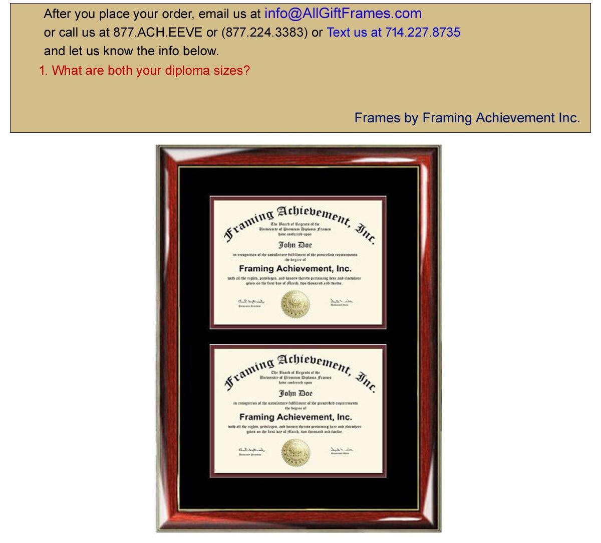Doble grado marco doble Diploma Marcos dos certificado brillante ...