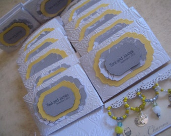 40 Wedding Favors - Set of 4 Wine Glass Charms