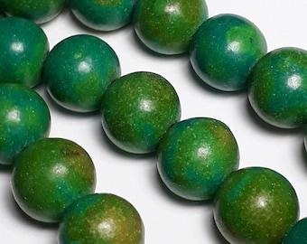 8pcs Green Turquoise Imitation Beads - Howlite Stone (Grade D) - Stone Beads - Green Beads - Blue Green Beads - 10mm Beads - B47992